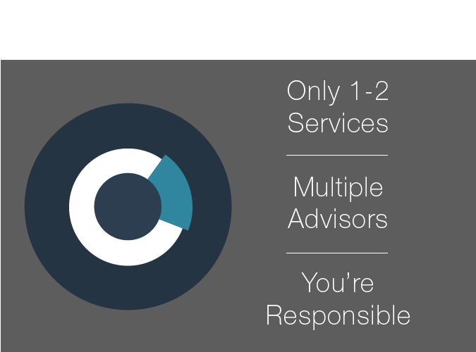Other Companies only offer 1-2 services and multiple advisors